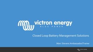 Victron Webinar Presentation